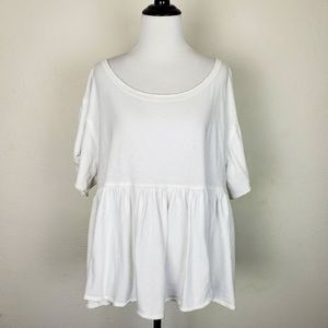 We the Free People Oversized Top White Tiered